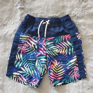 Oshkosh Navy Print Swim Shorts Size 5